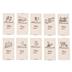 Mit Liebe Etiketten Baumwolle Stoff Tags Aufkleber Kleidertaschen Nähen Zubehör