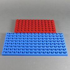 Lego Duplo Ground Plate 16x8 6x12 Nubs Blue Dark Red Plate City Pirate