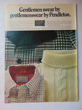 1969 PENDLETON SWEATERS SHIRTS Men's Wear  vintage art print ad