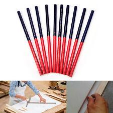 10x HB colores dobles lápices de carpintero para constructores de bricolaje carp