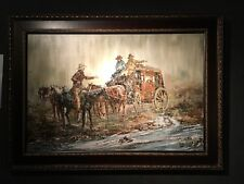 Stagecoach - Oil Painting By Robert Lebron