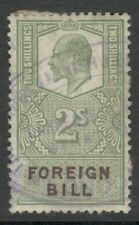 King Edward VII - 2s Green -  Foreign Bill