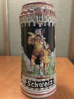 "Vintage Original King German Beer Stein Drinking Mug, 7 ½"", Handcrafted, Rare"