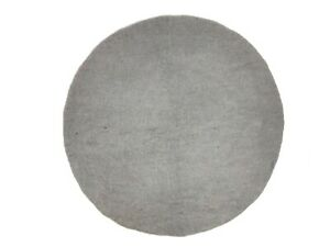 Grey Custom Round Plain Rug Choose Size 60 CM To 250 CM Handmade Ecofriendly Rug