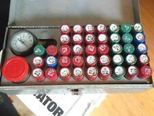 Delevan Metal Oil Burner Nozzle Box Monarch 41 Nozzles & Wrench & 2 Gauges