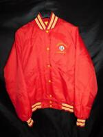 Vintage Coronado Baseball Size XL Red Butwin Satin Jacket Quilt Lined Snap Front