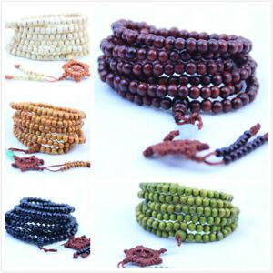 Tibetan 216 6mm Sandalwood Buddhist Prayer Beads Mala bracelet