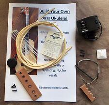 KIT fai da te Bass Ukulele-Costruisci il tuo elettro-acustica U-BASS. Std KIT.