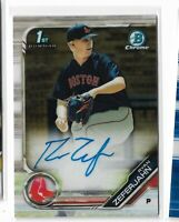 2019 bowman chrome prospect 1st bowman auto Ryan Zeferjahn Boston Red Sox CDA-RZ