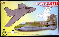 Unicraft Models 1/72 LIPPISCH P.115 German WWII Turbojet Fighter Project
