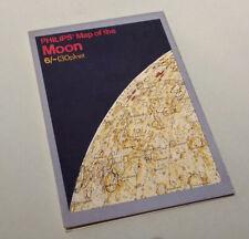 Philips Map of the Moon - Scarce - Elger Wilkins c.1969 - 1974 Atlas / Chart