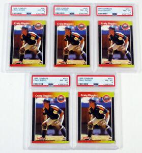 Lot of (5) 1989 Donruss Craig Biggio Rookie #561 RC Astros PSA 8 Nm-Mt
