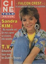 CINE REVUE 1986 N°25 sandra kim guy lux jules berry philippe leotard