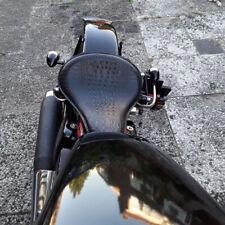 Alligator Schwarz Motorrad Solo Sitz Schwingsattel für Harley Bobber Chopper CVO