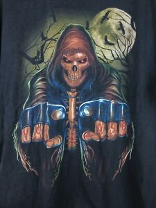 Hot Eagle You Loose Grim Reaper Mens T Shirt Size XL Crew Neck Double Graphic