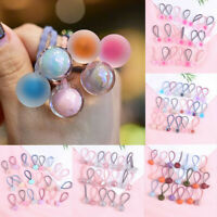 20pc Candy Color Kid Elastic Hair Rope Ponytail Band Ties Girls Hair Accessories