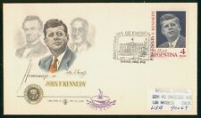 Mayfairstamps Argentina 1964 John F Kennedy Color Cachet first Day Cover wwr1851