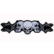 Biker Motorrad Barbed Wire Skull Stacheldraht Tribal Aufbügler Aufnäher Patch