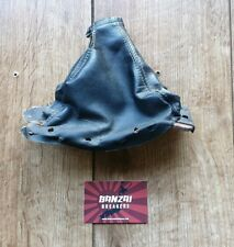NISSAN 300ZX Z32 TWIN TURBO VG30DETT BLACK LEATHER HAND BRAKE GAITER & PLATE