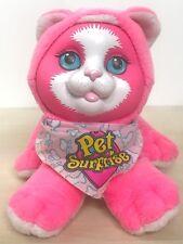 "1993 Hasbro Pet Surprise Kitty Cat Plush Hot Pink Working Sound Scarf 8755 5"""