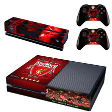 Xbox ONE Skin Sticker Vinyl Decal for Console & 2 Controllers Liverpool theme