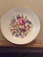 """Roses Royal Worcester Fine Bone China 4"""" Dish Plate Coaster Cup Cake Holders."""