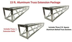 3x 5ft Lighting Square Aluminum Bolted Truss 15' span Stand Universal DJ 5' NEW