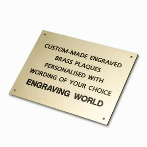 594mm x 420mm A2 Brass Personalised Engraved Plaque Sign