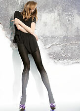Collant Femme Motif fantaisie  Fiore 40Den Noir & bleu marine Patterned tights