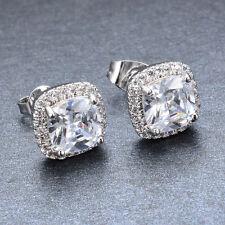Princess Cut White Sapphire 10KT Gold Filled Women's Earring Fashion Jewelry