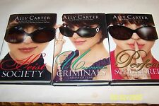 Heist Society,Uncommon Criminals,Perfect Scoundrels Ally Carter,1st Signed USA