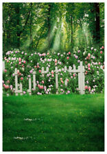 3x5Ft Green Garden Flowers Photography Backgrounds Photo Backdrops