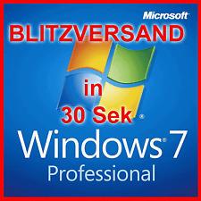 Windows 7 Professional für 1PC - Vollversion - Original - 32 64 Bit Win 7 Pro