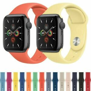 For Apple Watch Series 5 4 3 2 1 38/42/40/44/mm Unisex Sport iWatch Band Strap