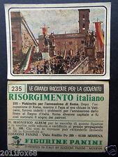 figurines cromos picture cards figurine risorgimento italiano 235 panini 1975 br