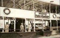 HAMBURG 1937 Echtfoto-AK Personen Hafen Rundfahrt Schiff Real-Photo Postcard