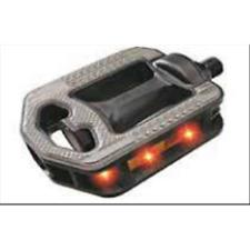 """Coppia pedali bici bicicletta MTB SM-297 con LED filetto 9/16"""""""