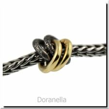 Authentic Trollbeads Silver & 18K Gold 41810 2+2, Silver & Gold :0 RETIRED
