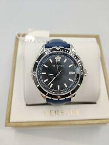 VERSACE Hellenyium Swiss Mens Watch Blue VE3A00220 Blue Bracelet 1yr Warranty