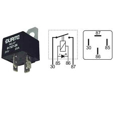 Durite - Relay Mini Make/Break (A term) 40amp 12volt with Diode Cd1 - 0-727-64