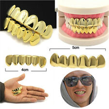 Hip Hop 14K Gold Plated Mouth Caps Teeth Grills Top Bottom Grillz Free Mold Kit