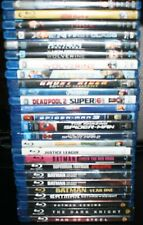HUGE LOT OF 26 MARVEL & DC SUPER-HERO MOVIES BLU-RAY AVENGERS X-MEN BATMAN MORE