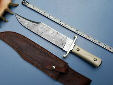 Ursa's Custom handmade Damascus Steel Iron Mistress Bowie knife UI-68DB