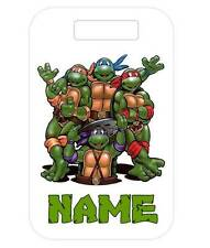 NINJA TURTLE BAG TAG Personalized For Luggage Bags Backpacks 2 Sides Printed