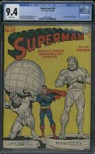 D.C. Comics Superman #28 CGC 9.4 WHITE Pages (Lois Lane stories begin)
