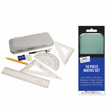 TALLON COMPACT MATHS GEOMETRY SET WITH COMPASS RULER PROTRACTOR SQUARE SHARPENER