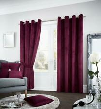 Luxury Riviara Curtain Velvet Touch Eyelet Ring Top Fully Lined Pair of Curtains