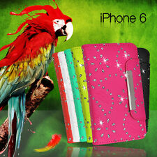 Glitter Wallet ID Card Flip Case Cover For iPhone 6 5 5c 5s + ScG BLING Fancy