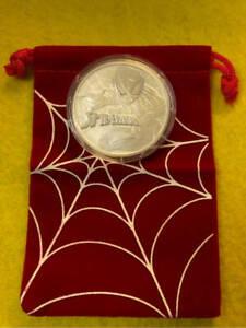 2017 Spiderman Tuvalu Marvel Series BU 1 OZ .9999 Silver
