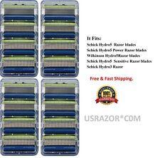 16 Schick Hydro5 Sensitive Razor Blade fit Hydro 5 Power Shaver Refill Cartridge